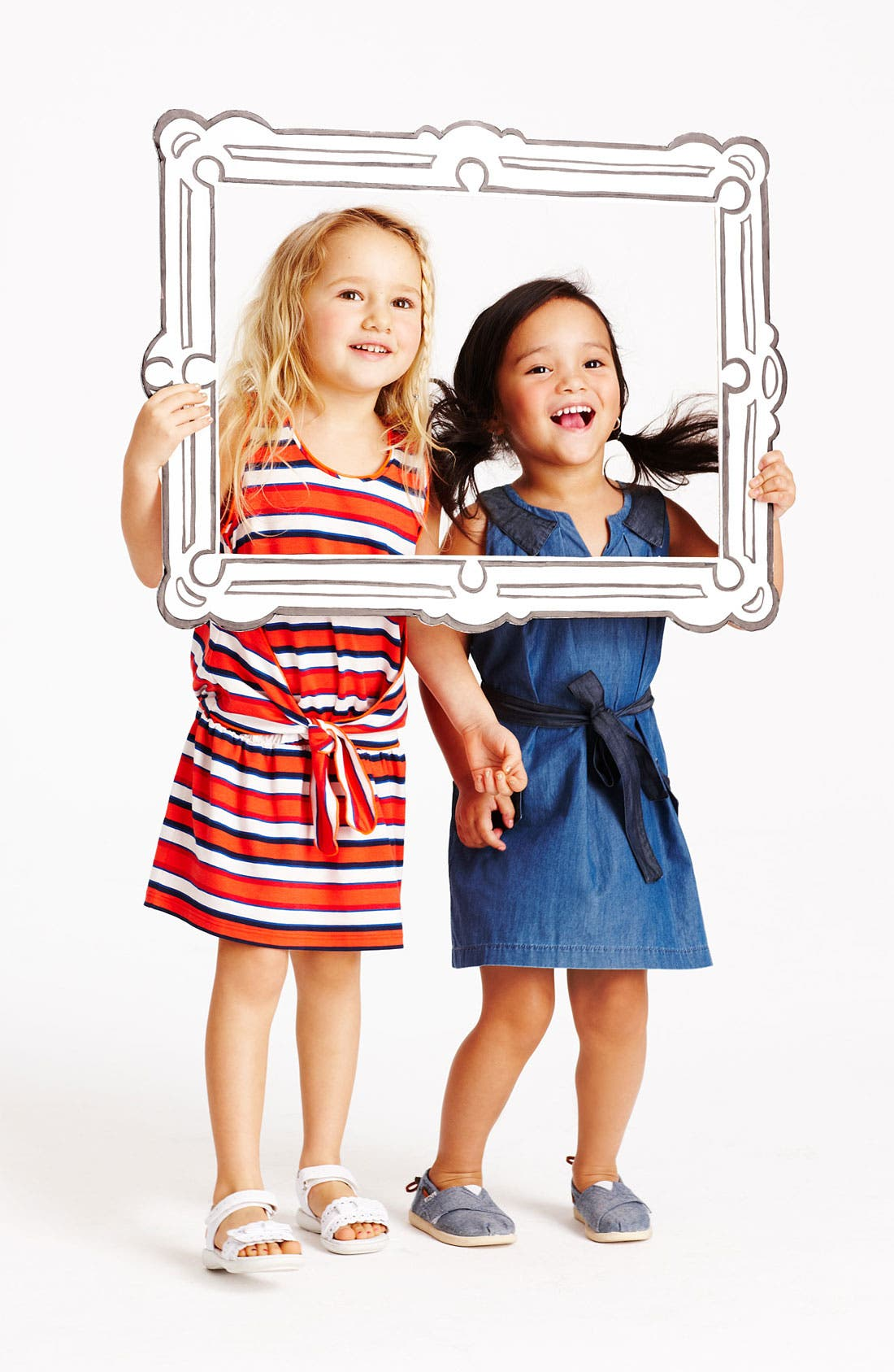 Alternate Image 2  - LITTLE MARC JACOBS Sleeveless Chambray Dress (Little Girls & Big Girls)