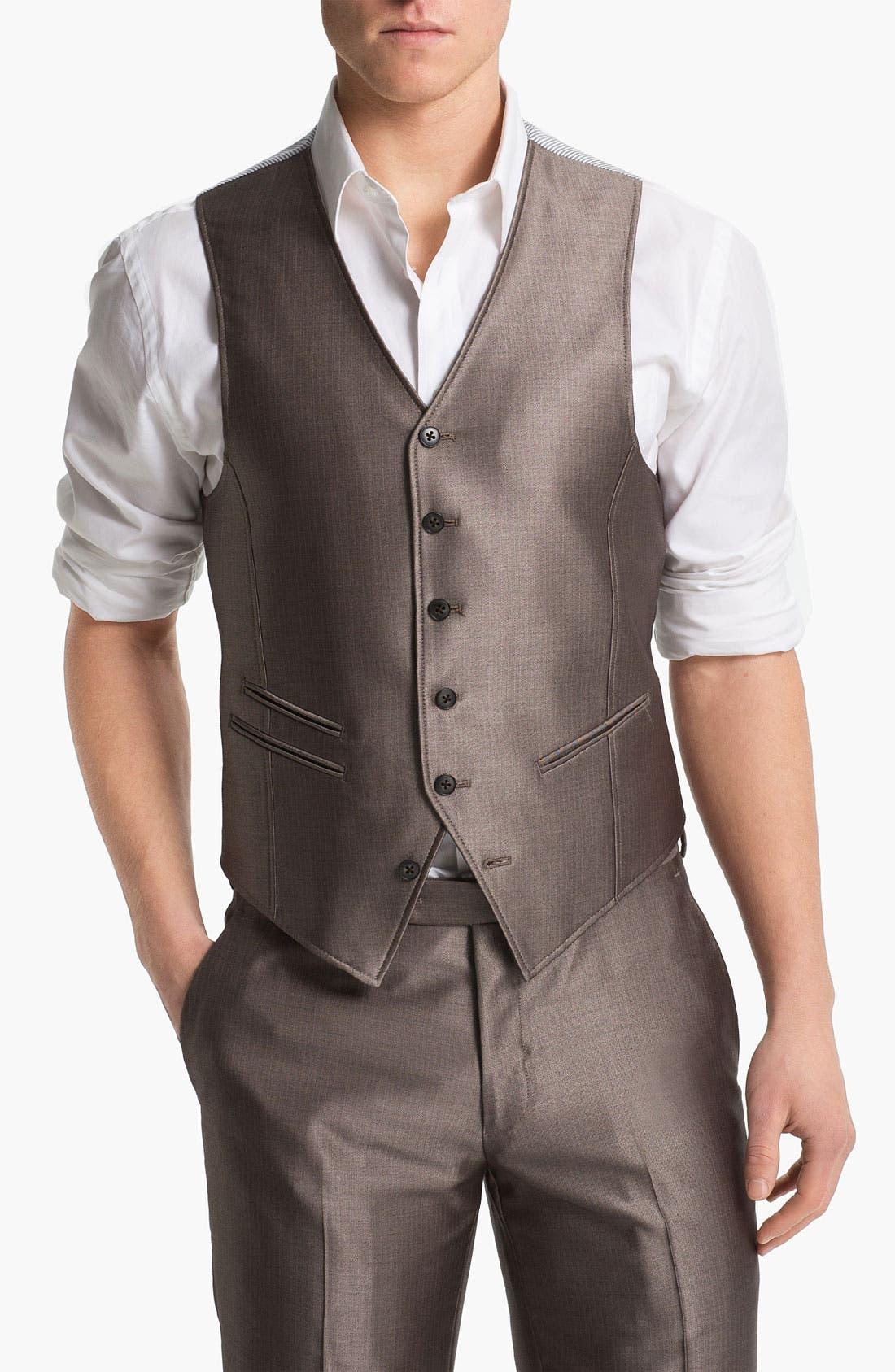 Main Image - John Varvatos Star USA Red Label Vest