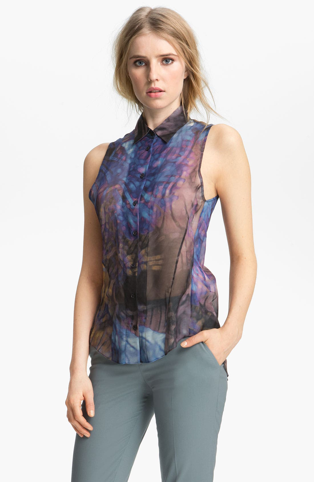 Alternate Image 2  - Theyskens' Theory 'Buzzy Ireef' Chiffon Top