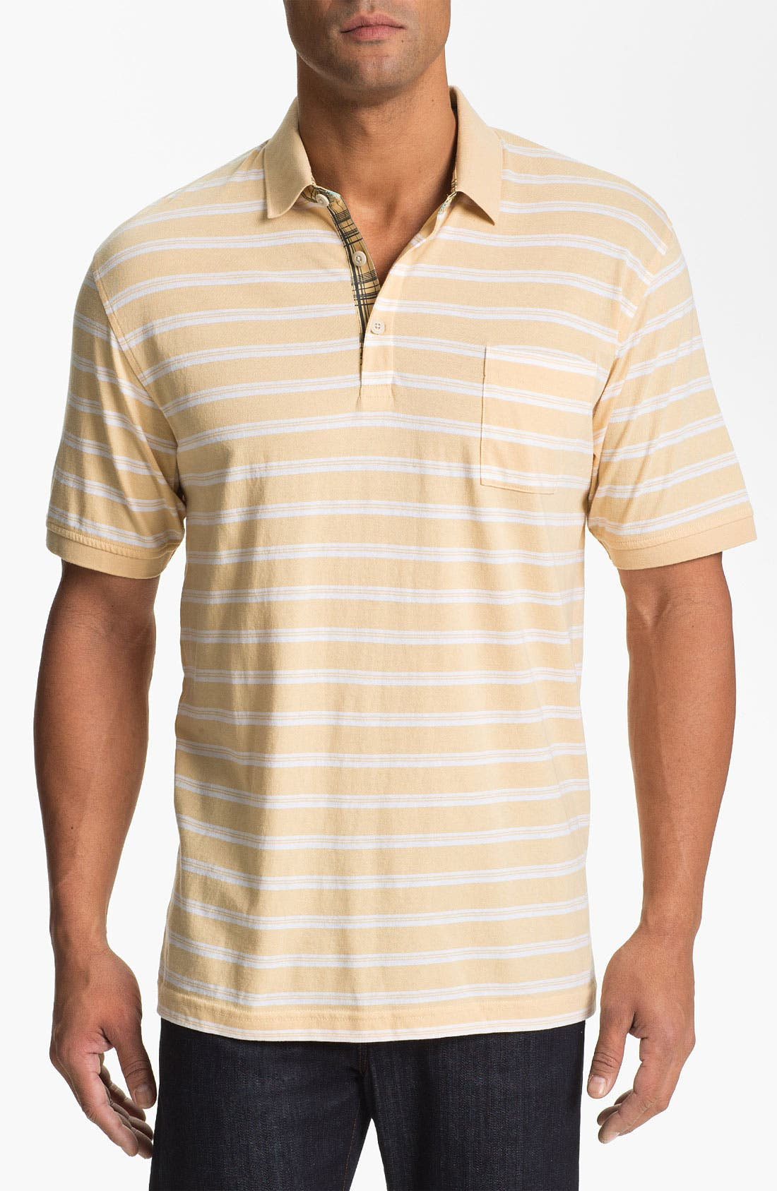 Alternate Image 1 Selected - Cutter & Buck 'Woodlawn Stripe' Polo (Big & Tall)