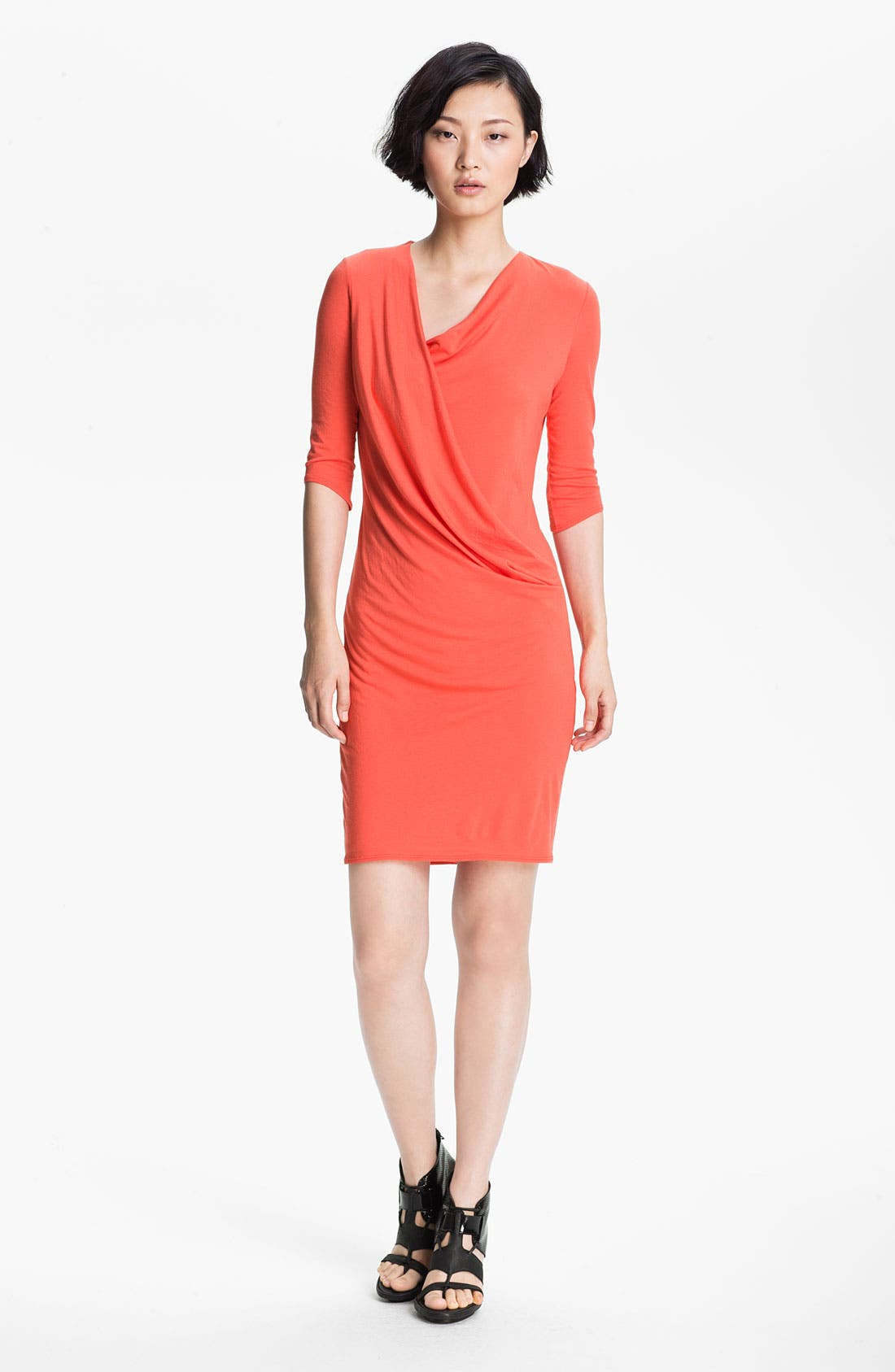 Main Image - HELMUT Helmut Lang 'Feather' Draped Jersey Dress