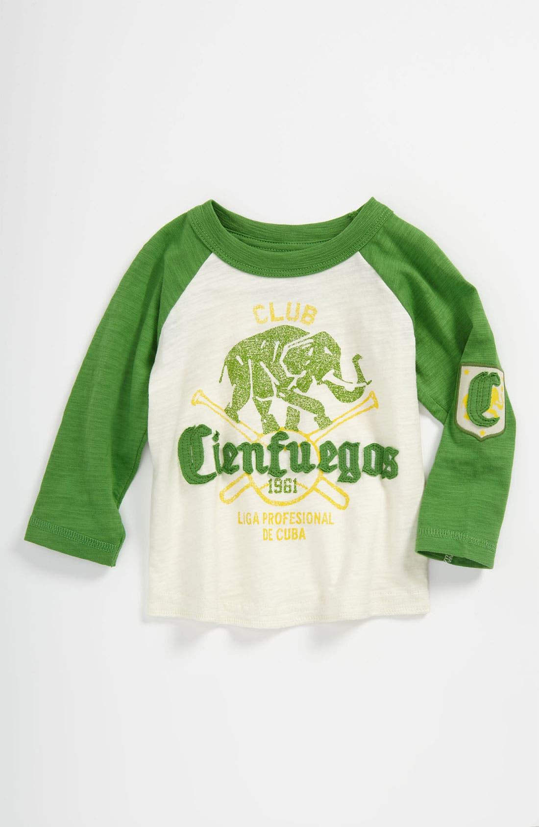 Alternate Image 1 Selected - Peek 'Club Cienfuegos' Baseball Jersey T-Shirt (Baby)
