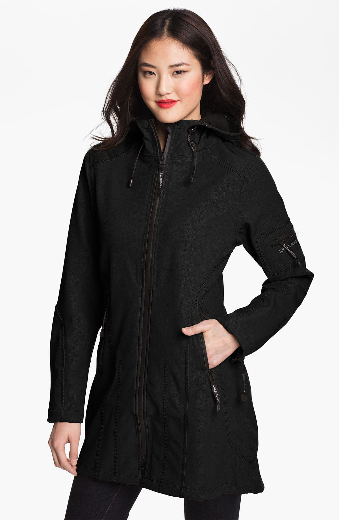 Alternate Image 1 Selected - Ilse Jacobsen Rain 7 Hooded Water Resistant Coat