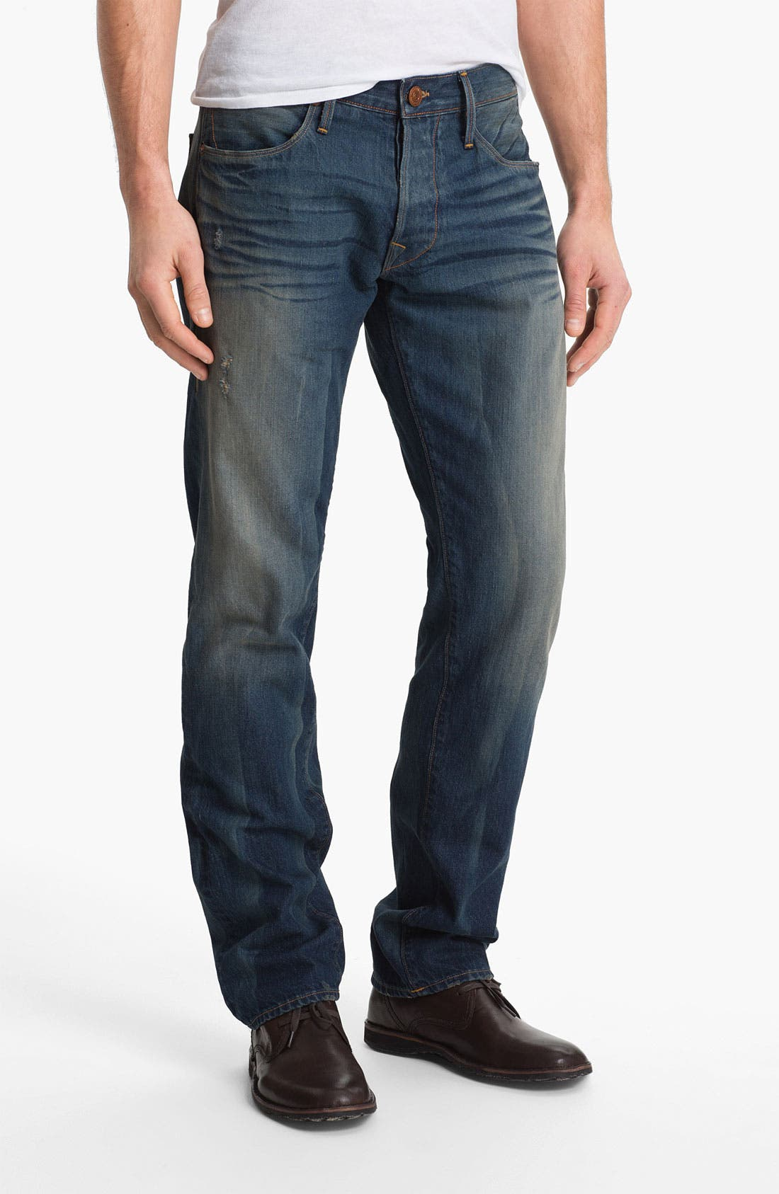 Alternate Image 2  - True Religion Brand Jeans 'Geno 50s' Slim Straight Leg Jeans (Deadwood)