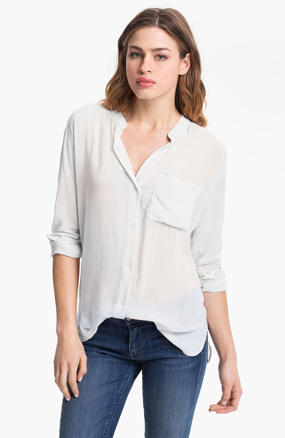 Alternate Image 1 Selected - James Perse Collarless Pocket Shirt