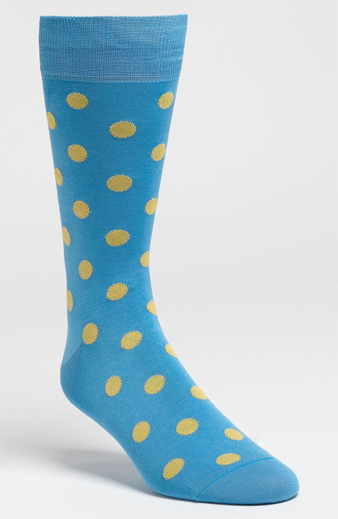 Main Image - Bugatchi Polka Dot Socks