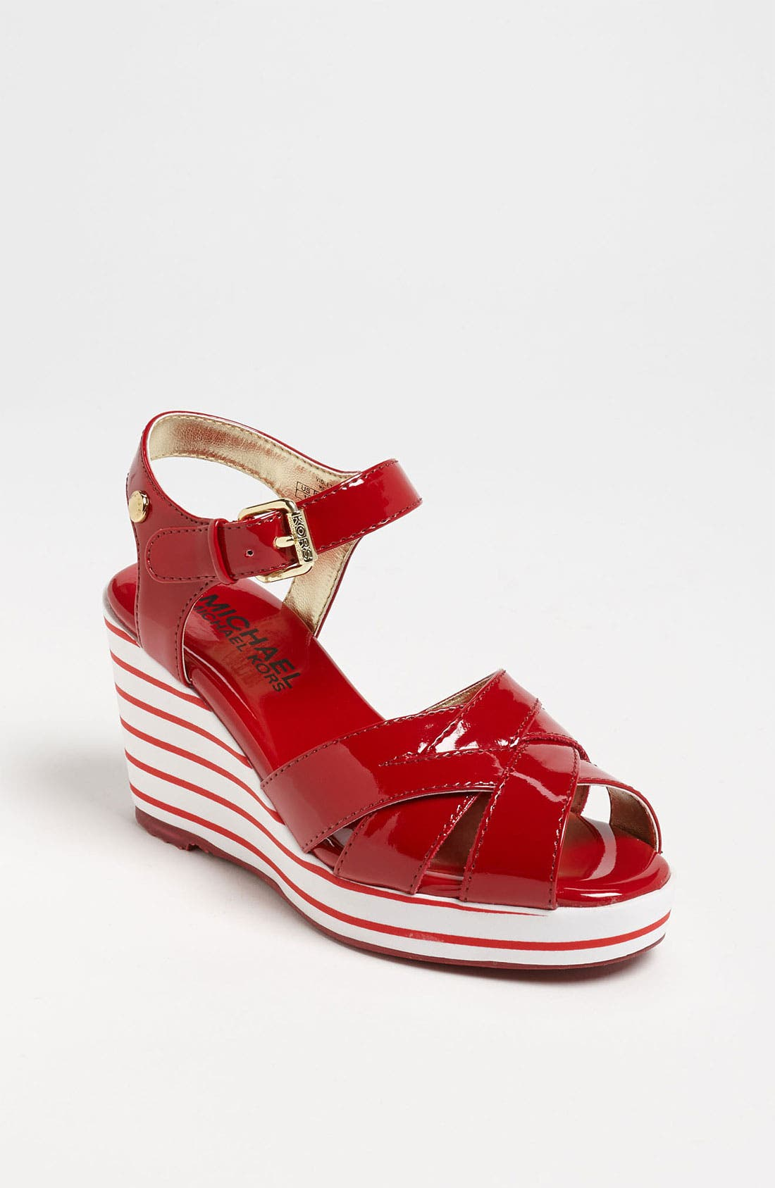 Alternate Image 1 Selected - MICHAEL Michael Kors 'Violet' Sandal (Little Kid & Big Kid)