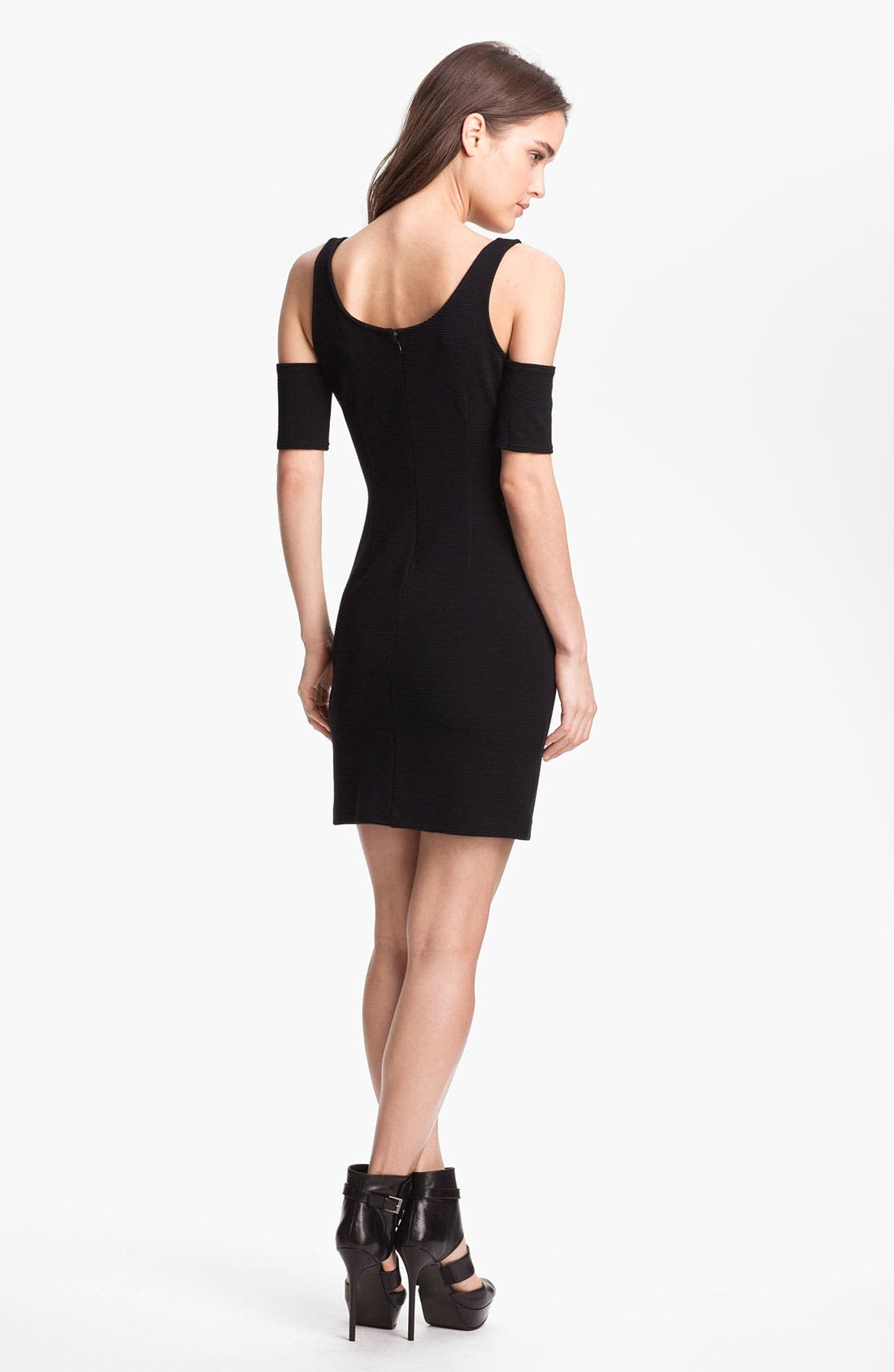 Alternate Image 2  - BB Dakota Sleeve Detail Ribbed Ponte Minidress