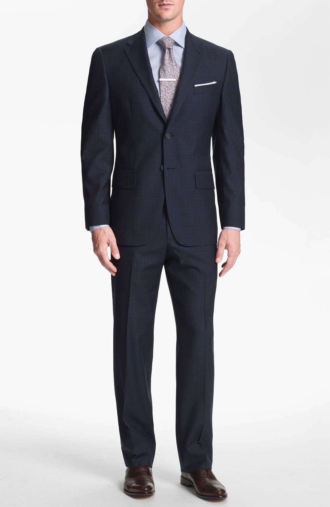 Alternate Image 1 Selected - Joseph Abboud Trim Fit Check Wool Suit