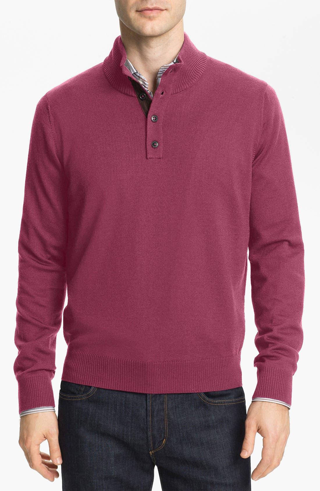 Main Image - Thomas Dean Mock Neck Merino Wool Sweater