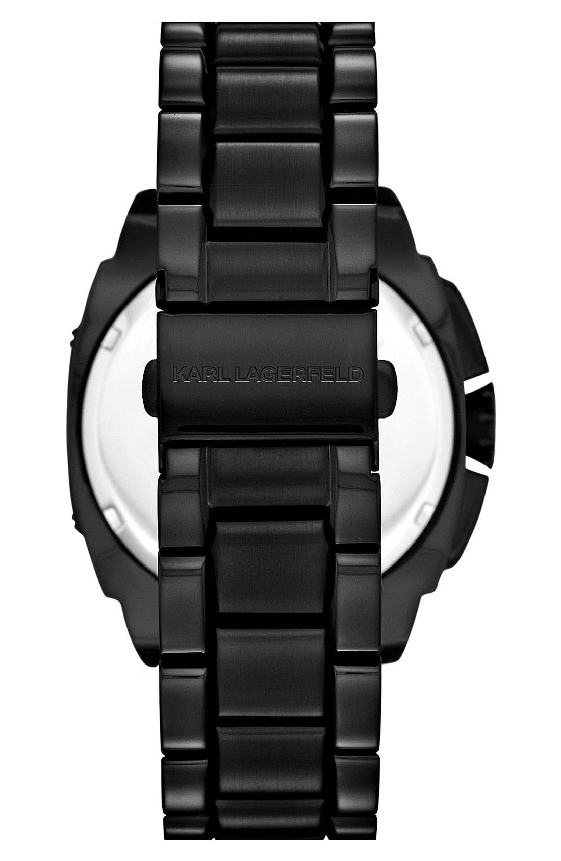 Alternate Image 3  - KARL LAGERFELD 'Keeper' Crystal Bezel Bracelet Watch, 40mm