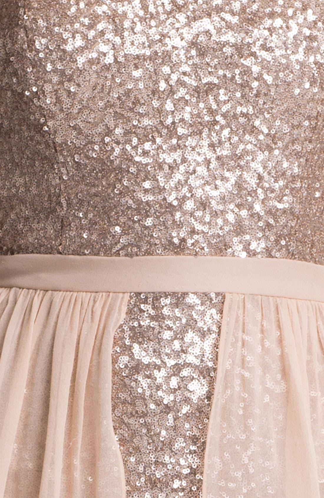Alternate Image 3  - Aidan Mattox Chiffon Overlay Sequin Dress (Online Only)