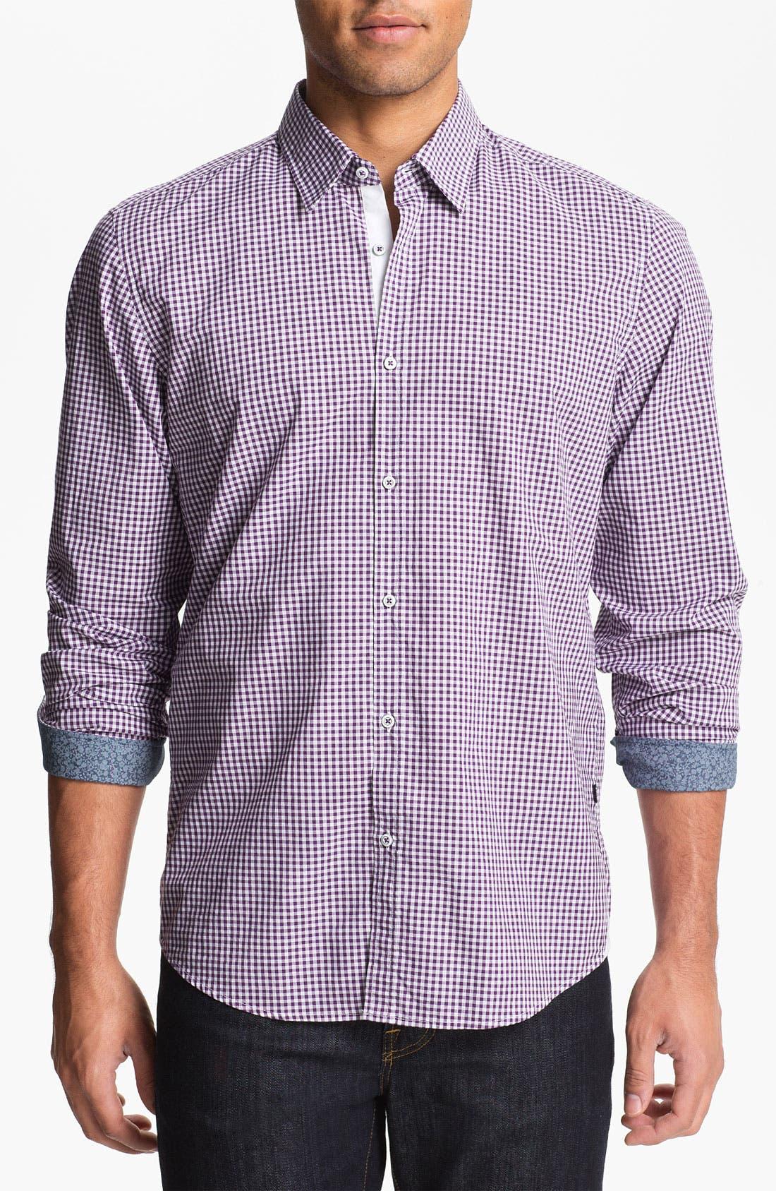 Alternate Image 1 Selected - BOSS HUGO BOSS 'Obert' Regular Fit Sport Shirt