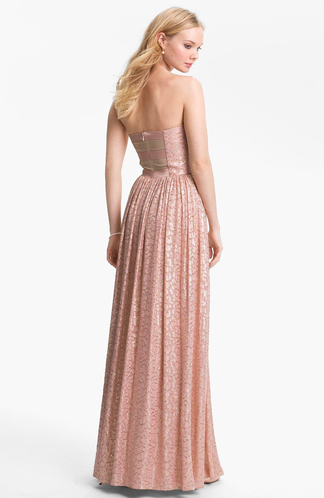 Alternate Image 2  - ERIN erin fetherston Metallic Silk Gown