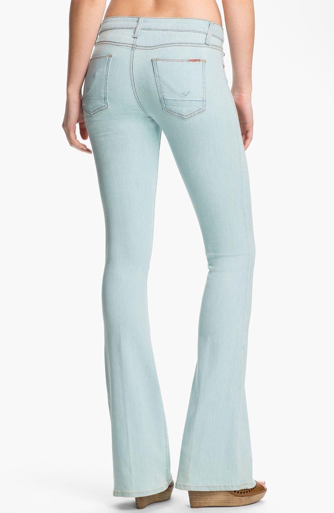 Alternate Image 2  - Hudson Jeans Flare Leg Jeans (Dahlia)