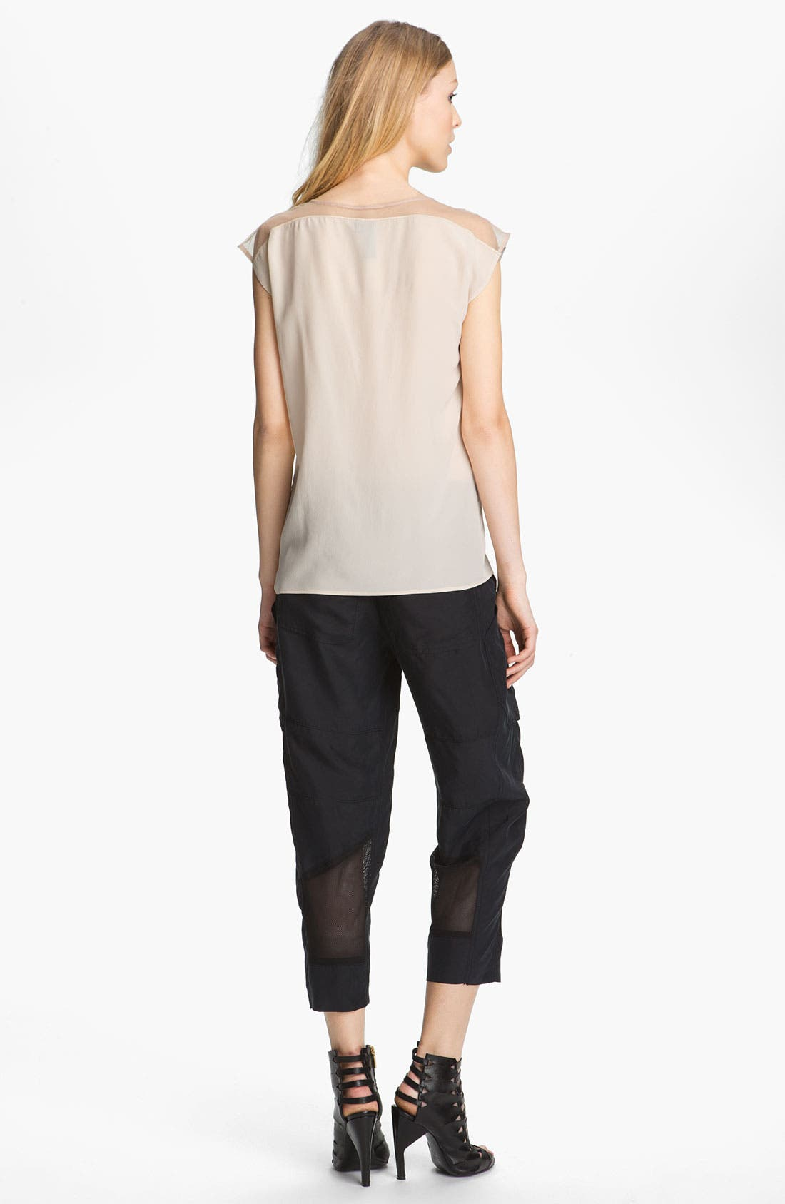 Alternate Image 4  - Edun Mesh Trim Silk Cargo Pants