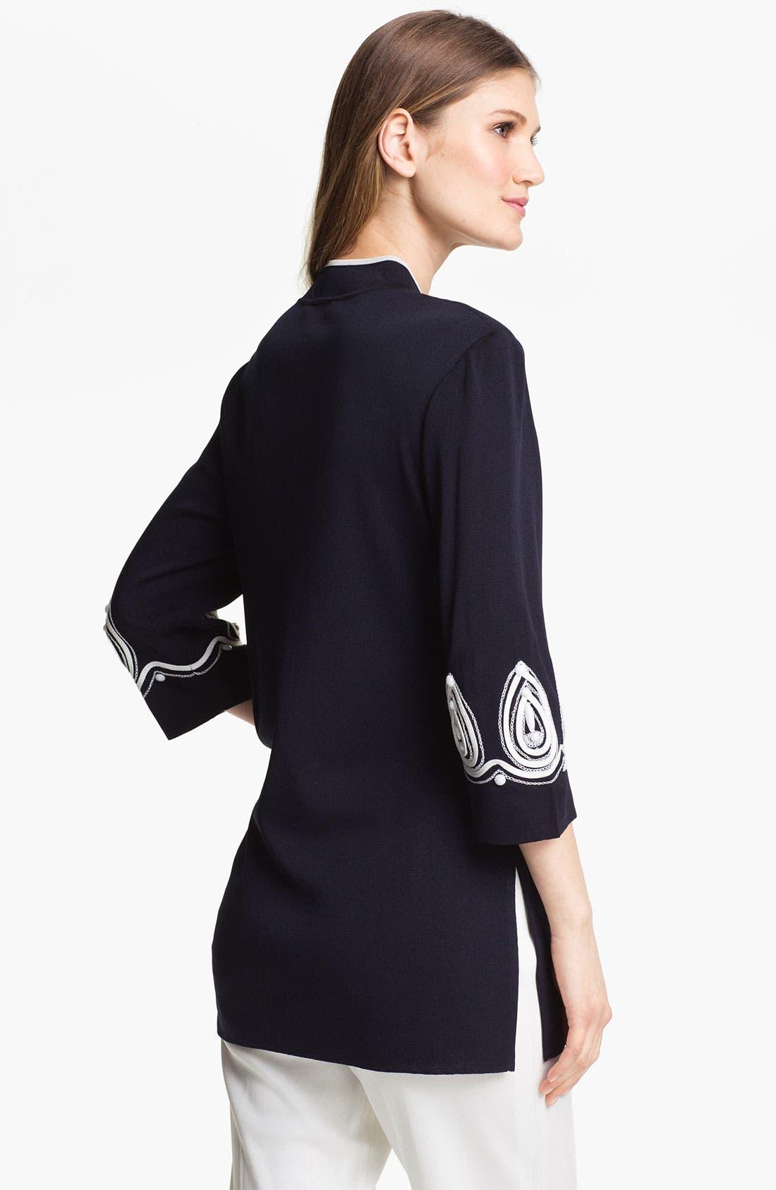 Alternate Image 2  - Ming Wang Embellished Split Neck Tunic