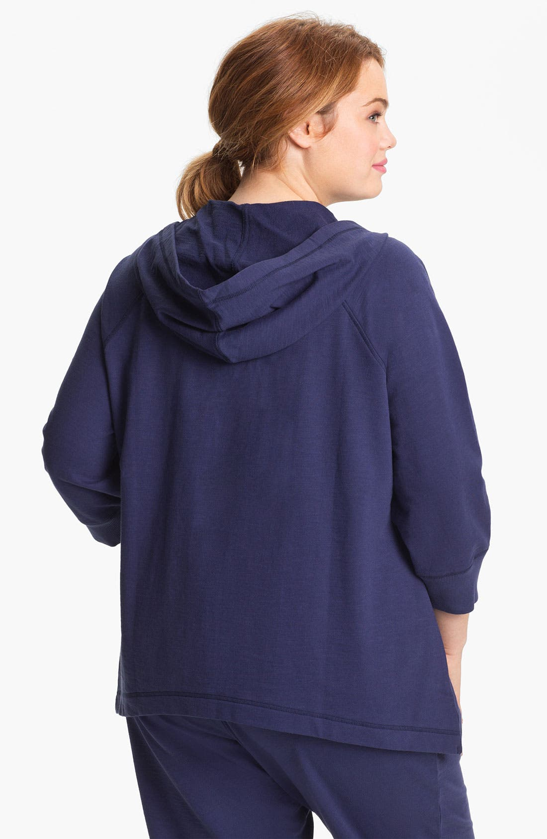 Alternate Image 2  - Sejour Zip Front Terry Hoodie (Plus Size)