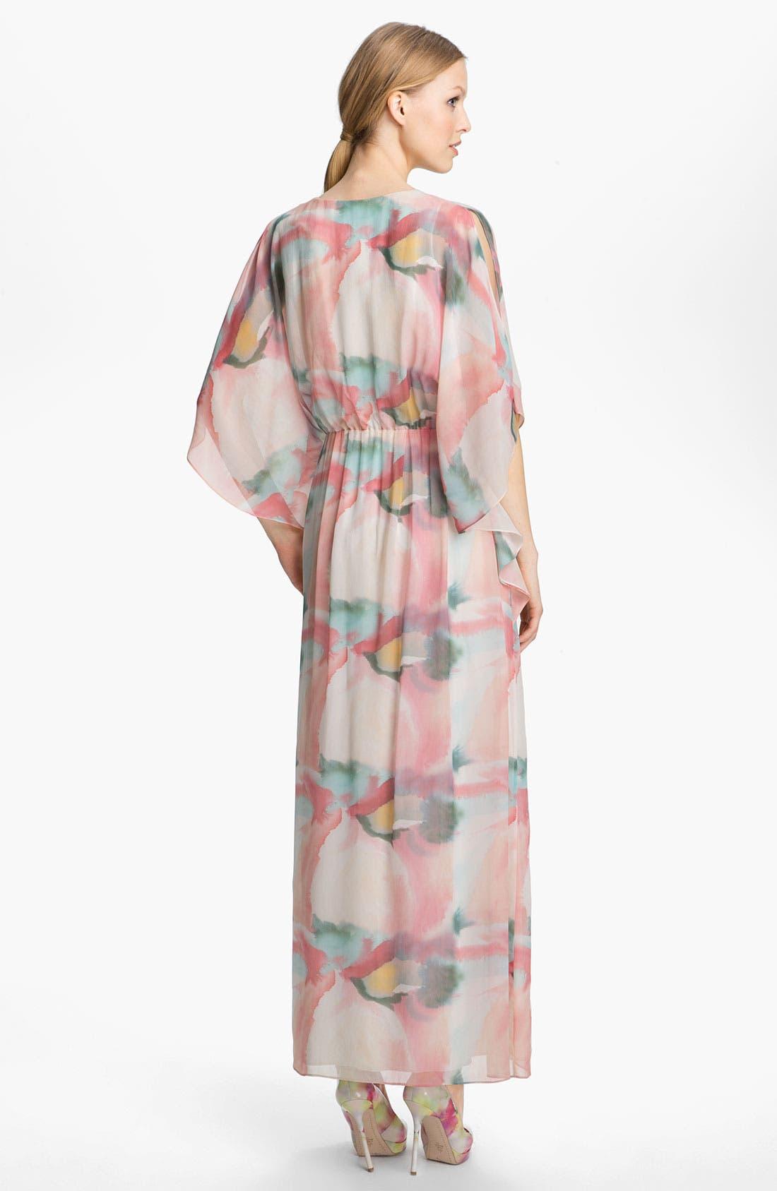 Alternate Image 2  - Alice + Olivia Print Silk Maxi Dress