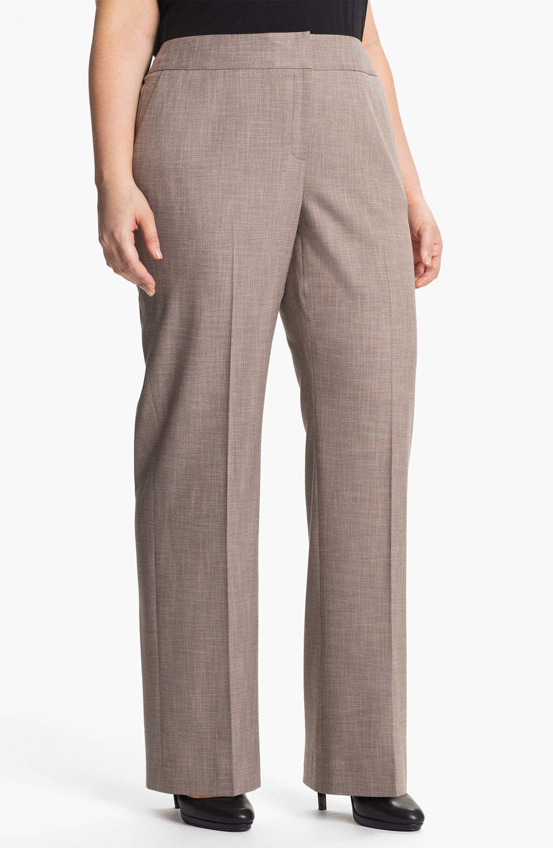 Main Image - Sejour 'Metric' Curvy Fit Trousers (Plus Size)