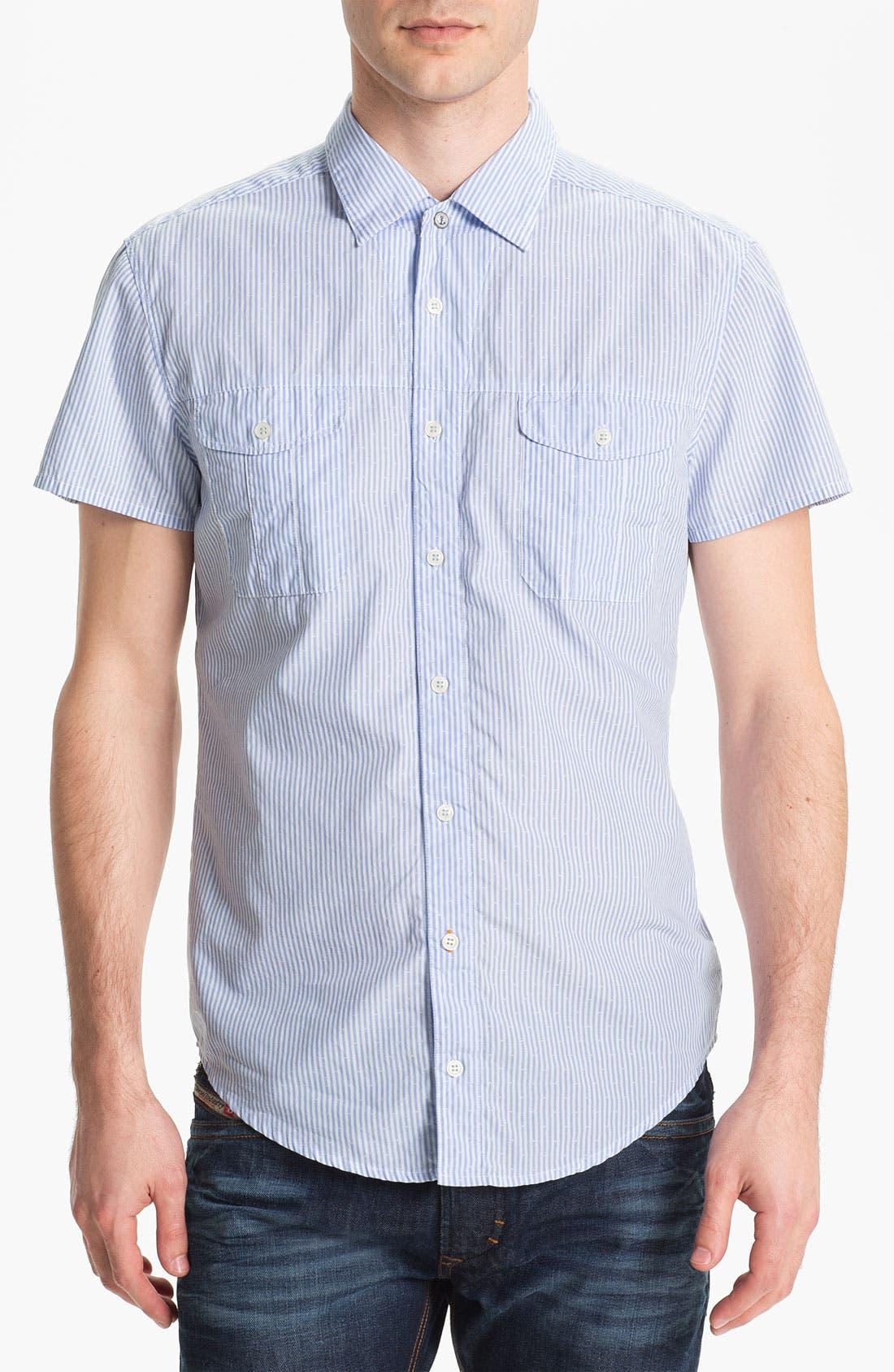 Alternate Image 1 Selected - BOSS Orange 'Casoe' Stripe Woven Shirt