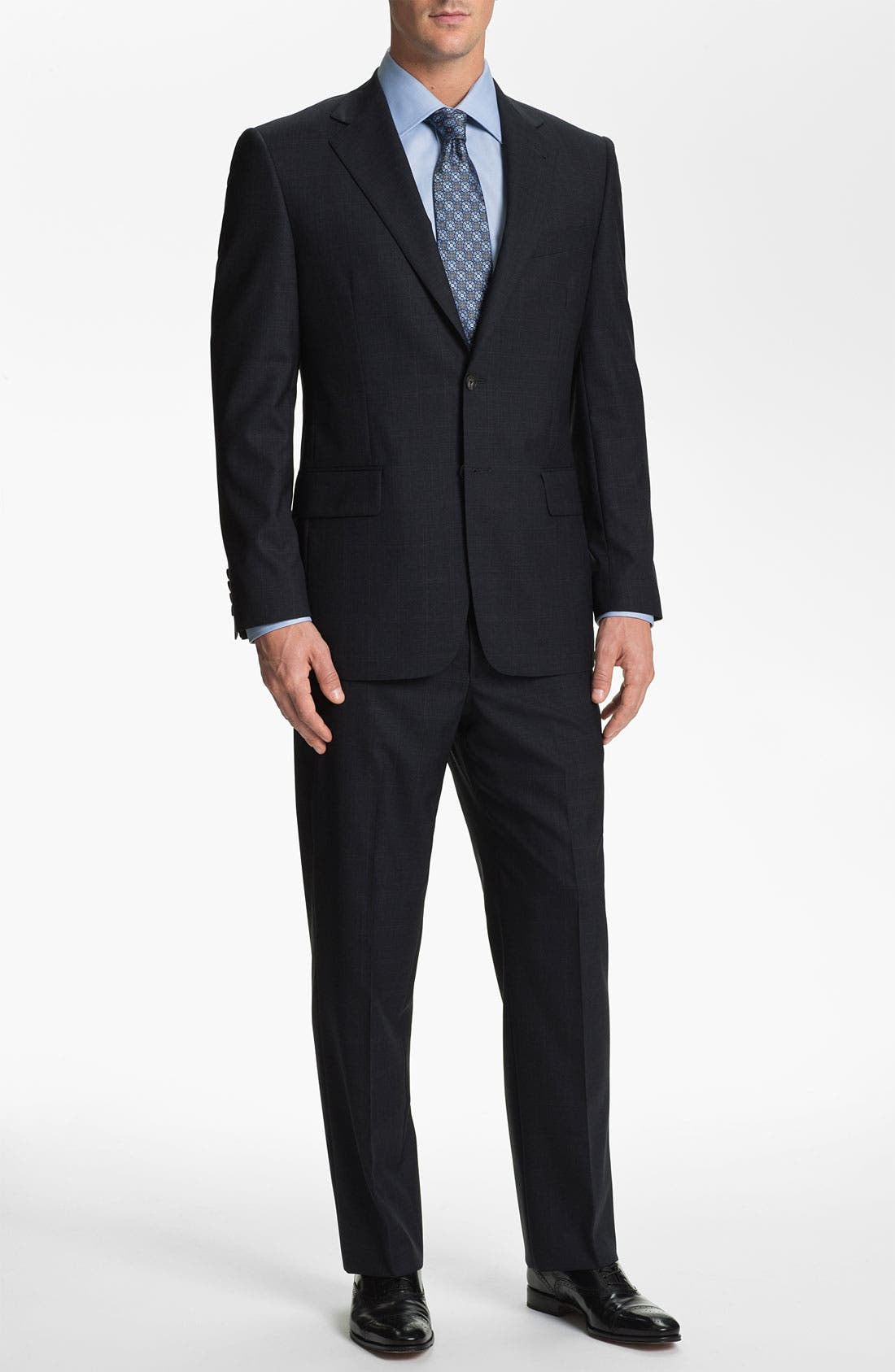 Main Image - Joseph Abboud Windowpane Wool Suit