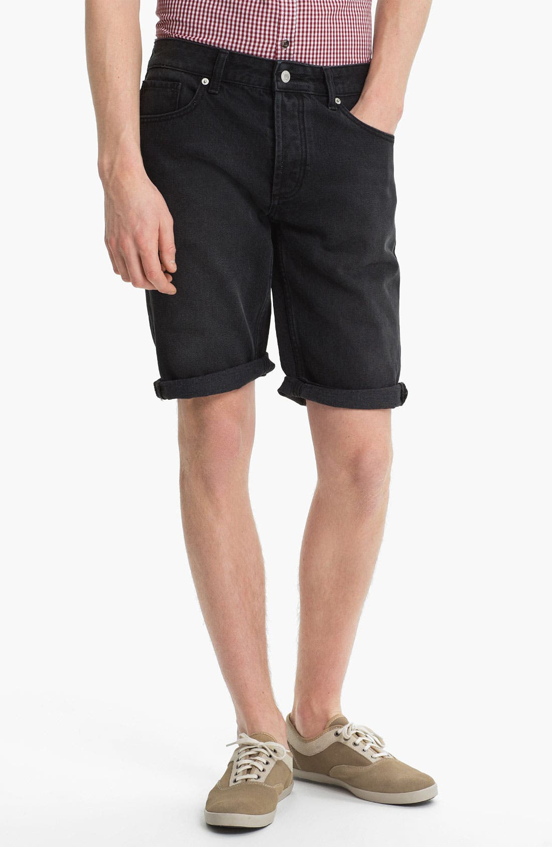 Main Image - Topman Skinny Fit Denim Shorts