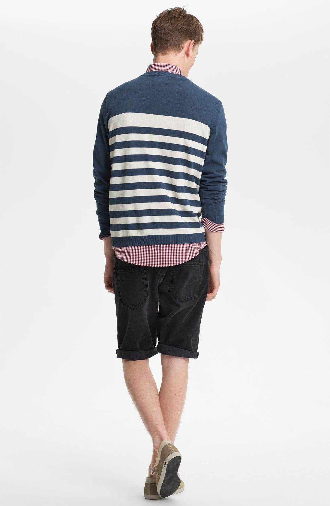 Alternate Image 3  - Topman Skinny Fit Denim Shorts