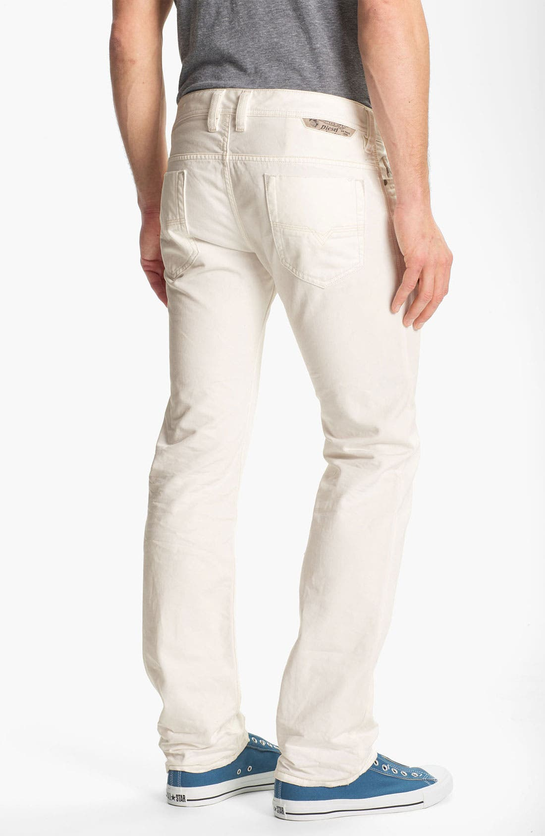 Main Image - DIESEL® 'Safado' Slim Fit Jeans (Pure White)