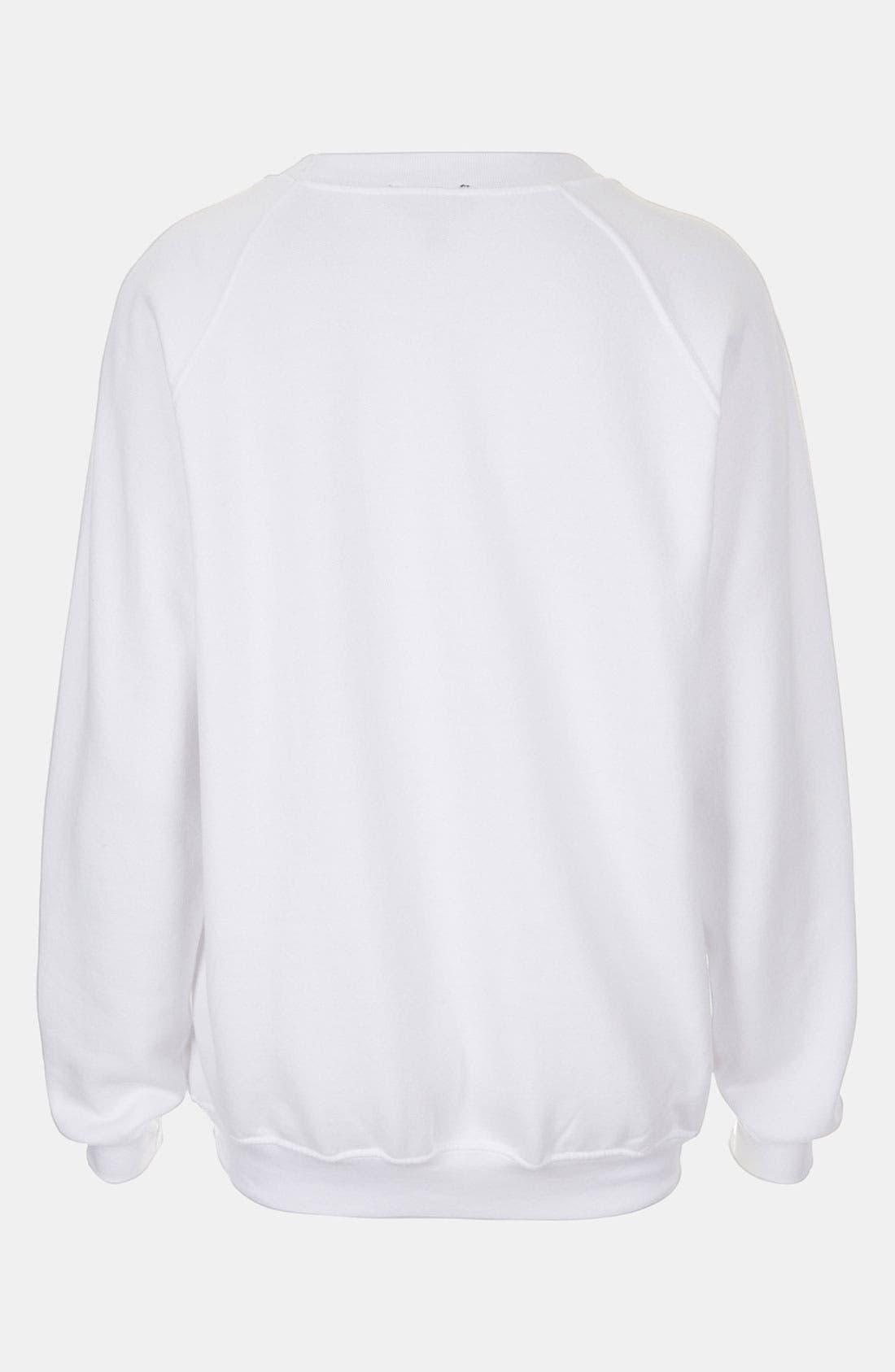 Alternate Image 2  - Topshop Heart Graphic Sweatshirt