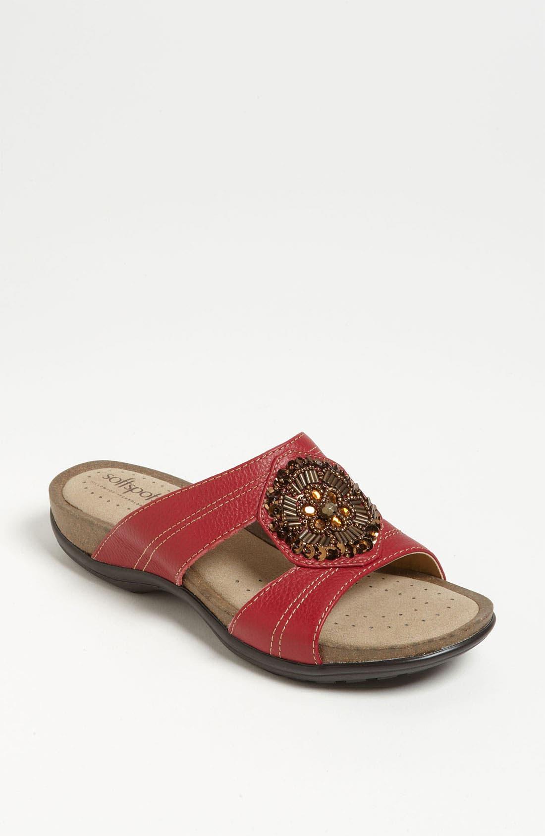 Alternate Image 1 Selected - Softspots Beaded Sandal