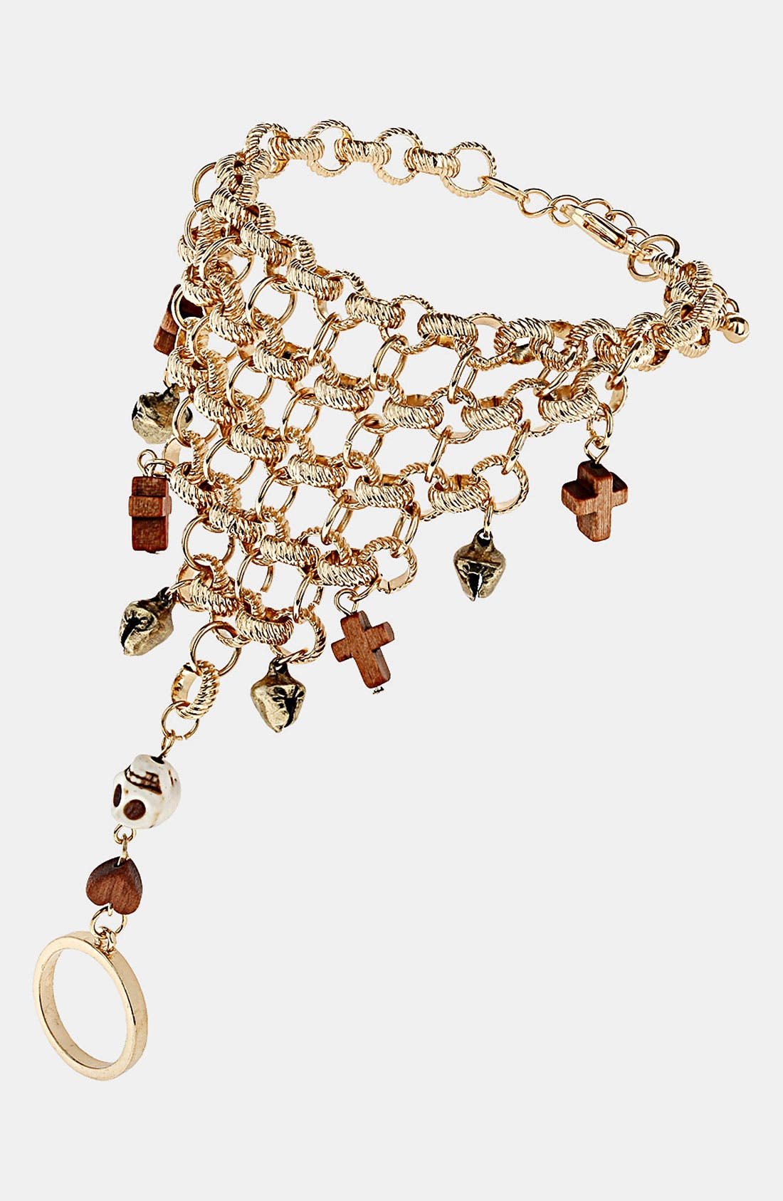 Main Image - Topshop Cross & Skull Hand Chain