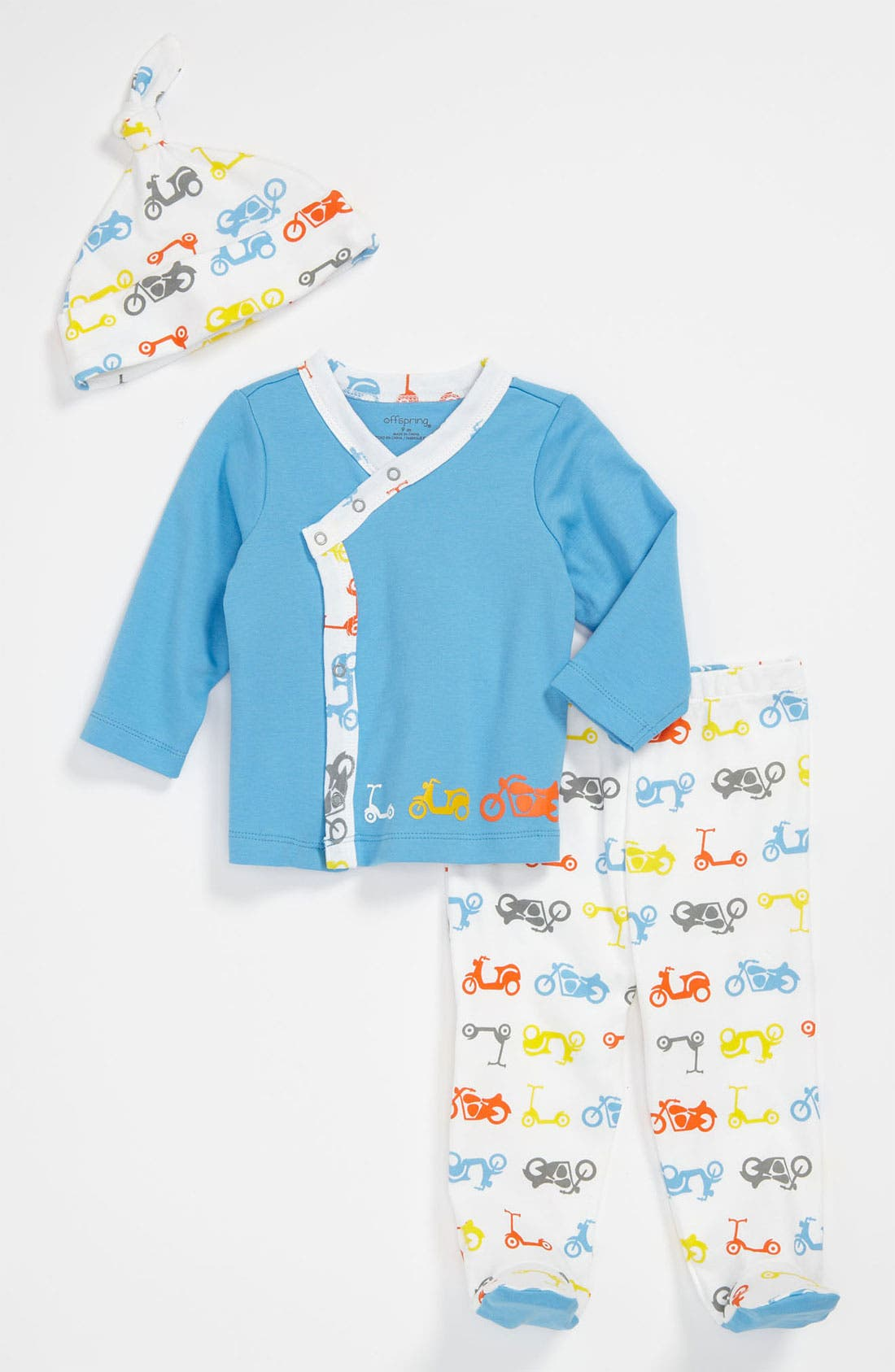 Alternate Image 1 Selected - Offspring Shirt, Pants & Hat (Baby)