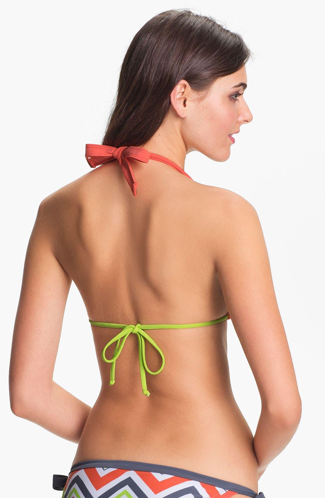 Alternate Image 3  - BCA Chevron Stripe Triangle Bikini Top