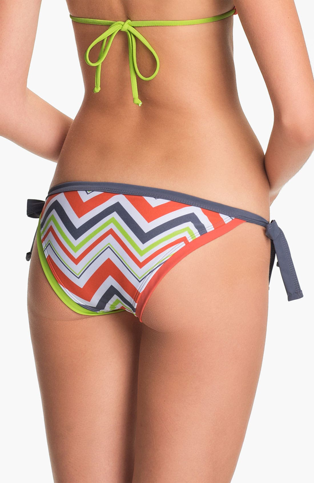 Alternate Image 3  - BCA Chevron Stripe Side Tie Bikini Bottoms