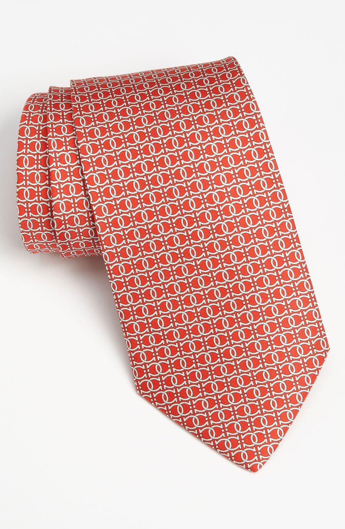 Alternate Image 1 Selected - Salvatore Ferragamo Gancini Print Silk Tie