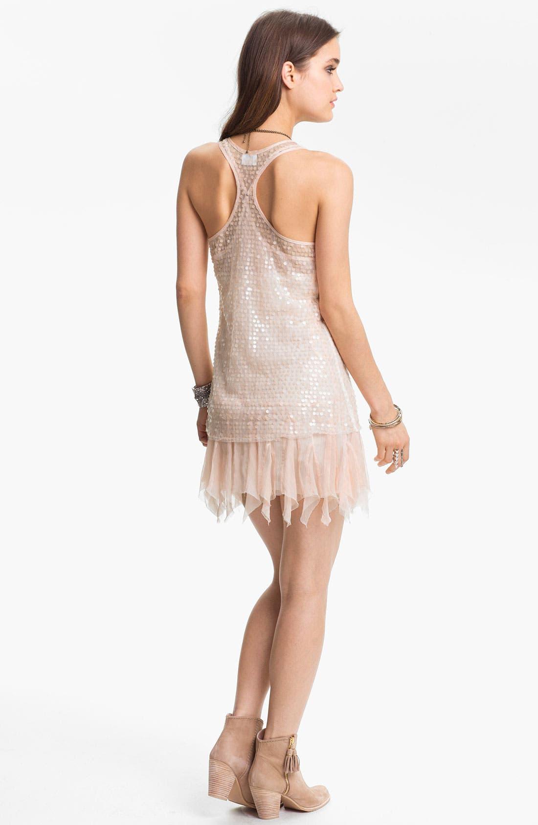 Alternate Image 2  - Free People Sheer Sequin Slipdress