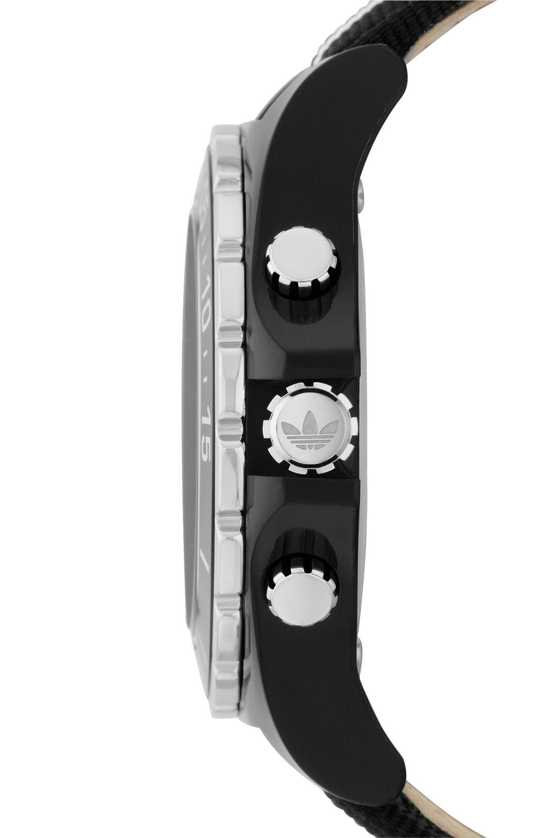 Alternate Image 2  - adidas Originals 'Stockholm' Nylon Strap Watch, 44mm