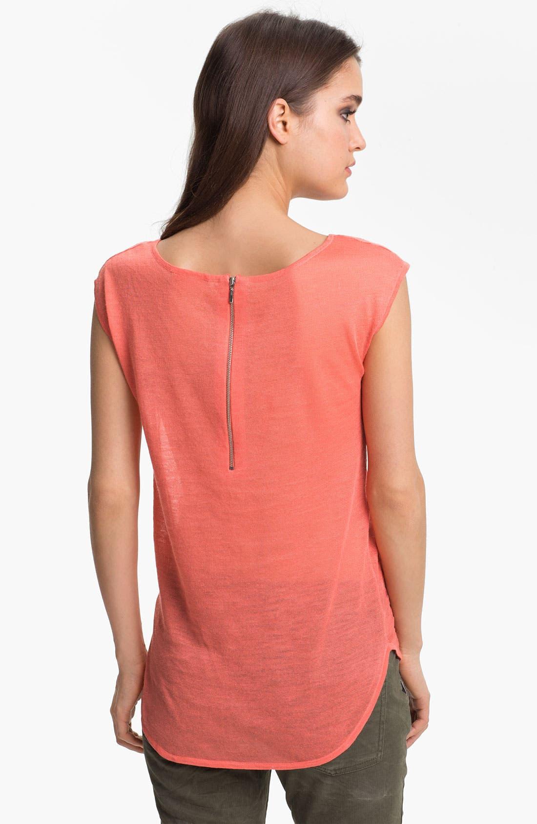 Alternate Image 2  - Trouvé Textured Sheer Cap Sleeve Top