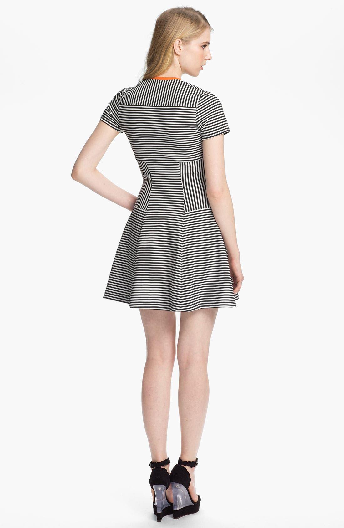 Alternate Image 2  - Cut25 Flared Knit Dress