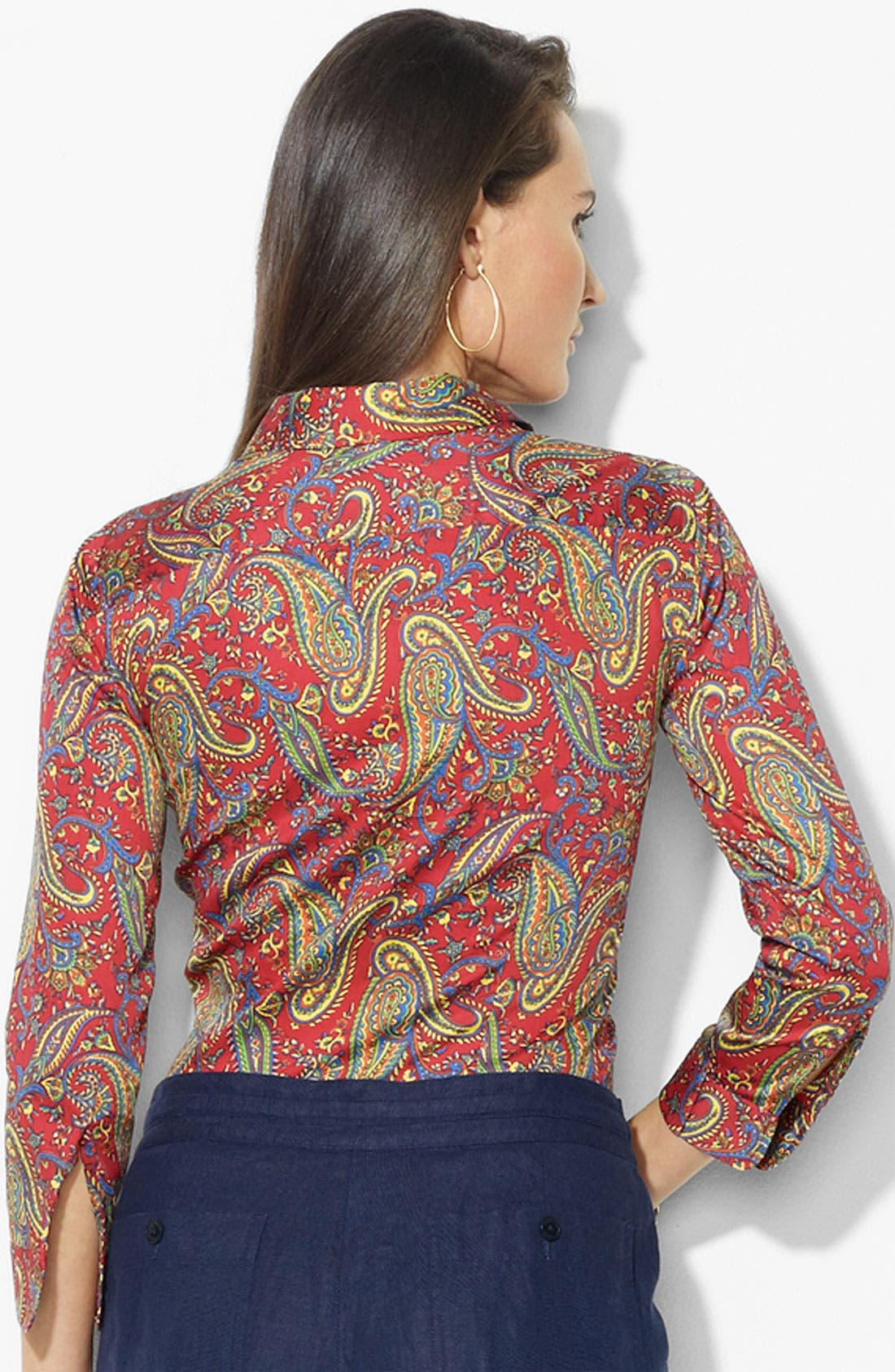 Alternate Image 2  - Lauren Ralph Lauren Paisley Print Shirt