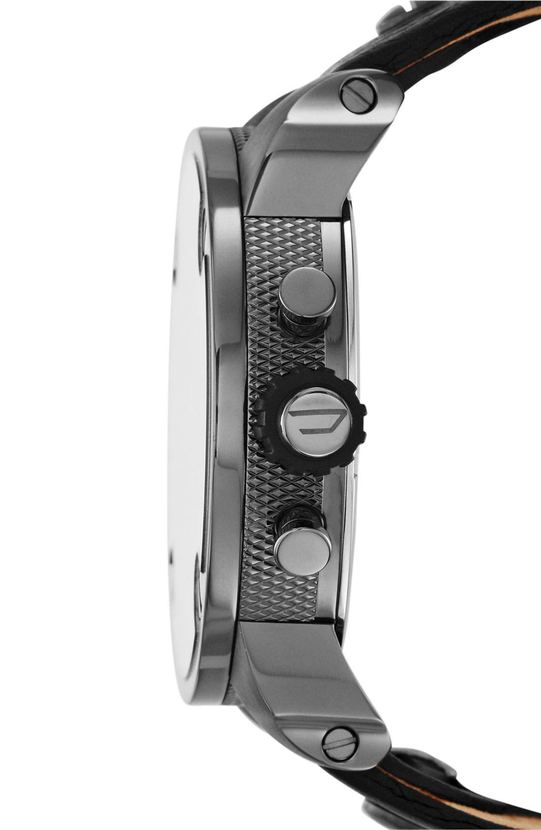 Alternate Image 2  - DIESEL® 'Little Daddy' Chronograph Leather Strap Watch, 51mm