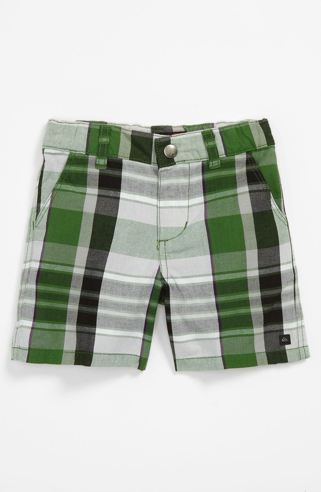 Main Image - Quiksilver 'Nectar' Plaid Shorts (Baby)