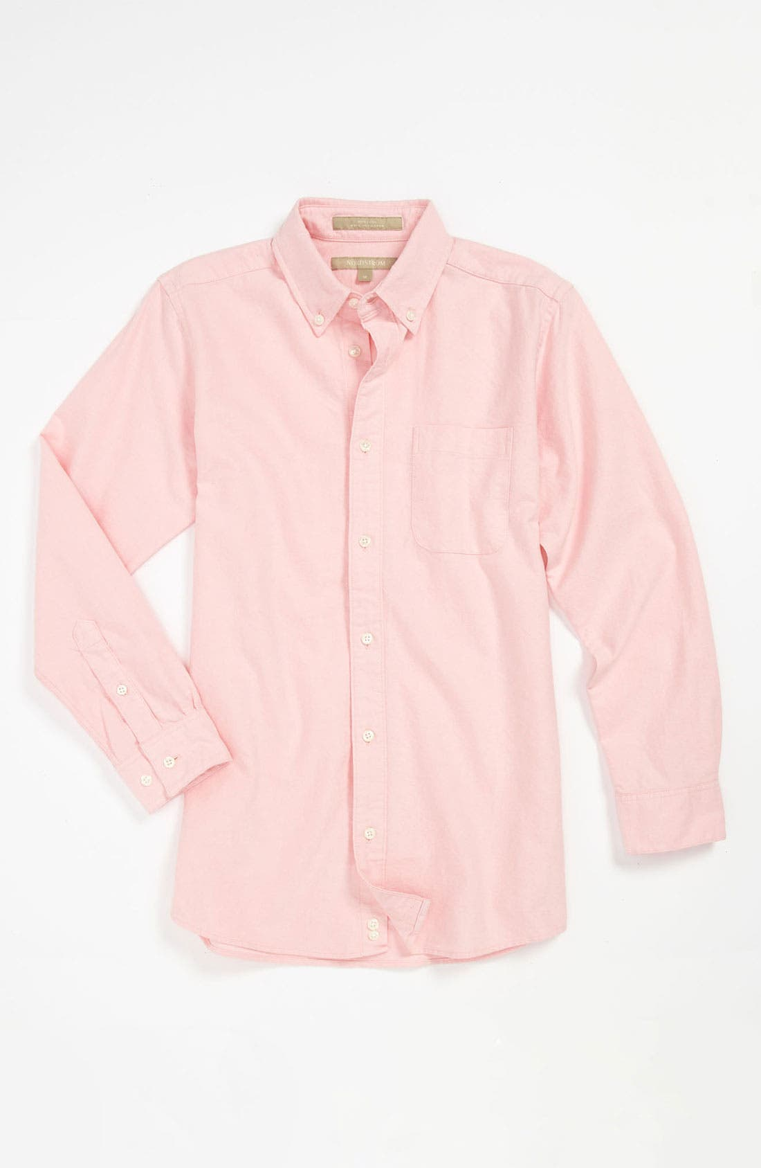 Main Image - Nordstrom 'Michael' Woven Oxford Shirt (Little Boys)