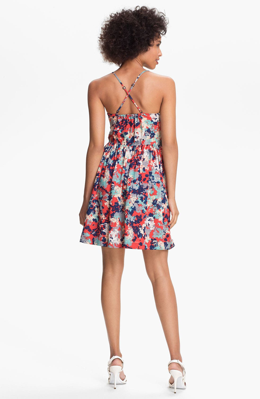Alternate Image 2  - Betsey Johnson Floral Fit & Flare Dress