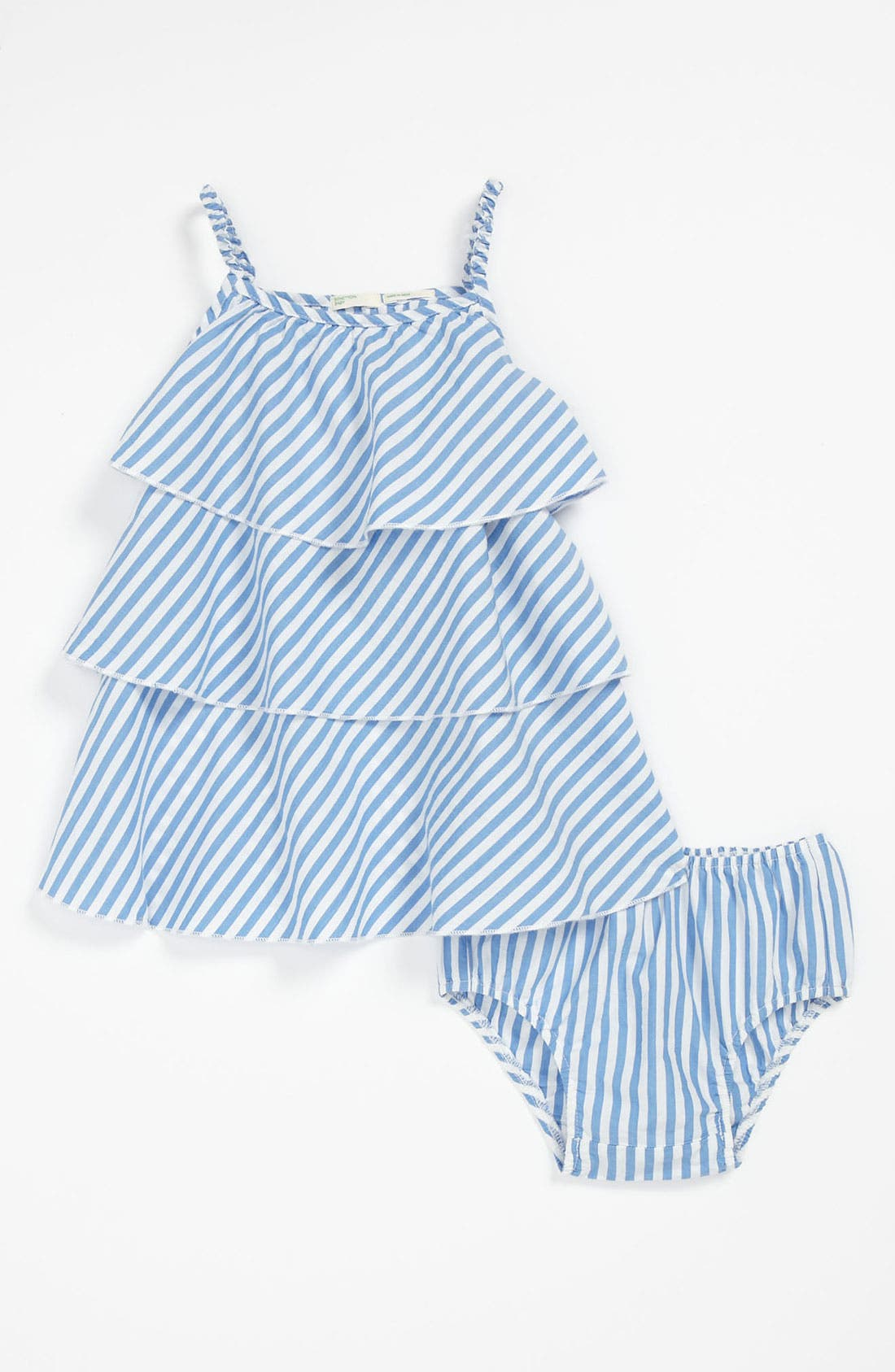 Main Image - United Colors of Benetton Kids Stripe Dress & Bloomers (Baby)