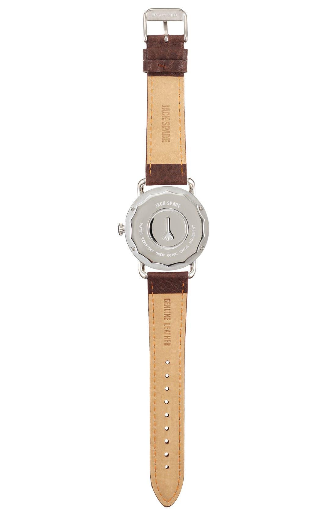Alternate Image 2  - Jack Spade 'Buckner' Leather Strap Watch, 42mm