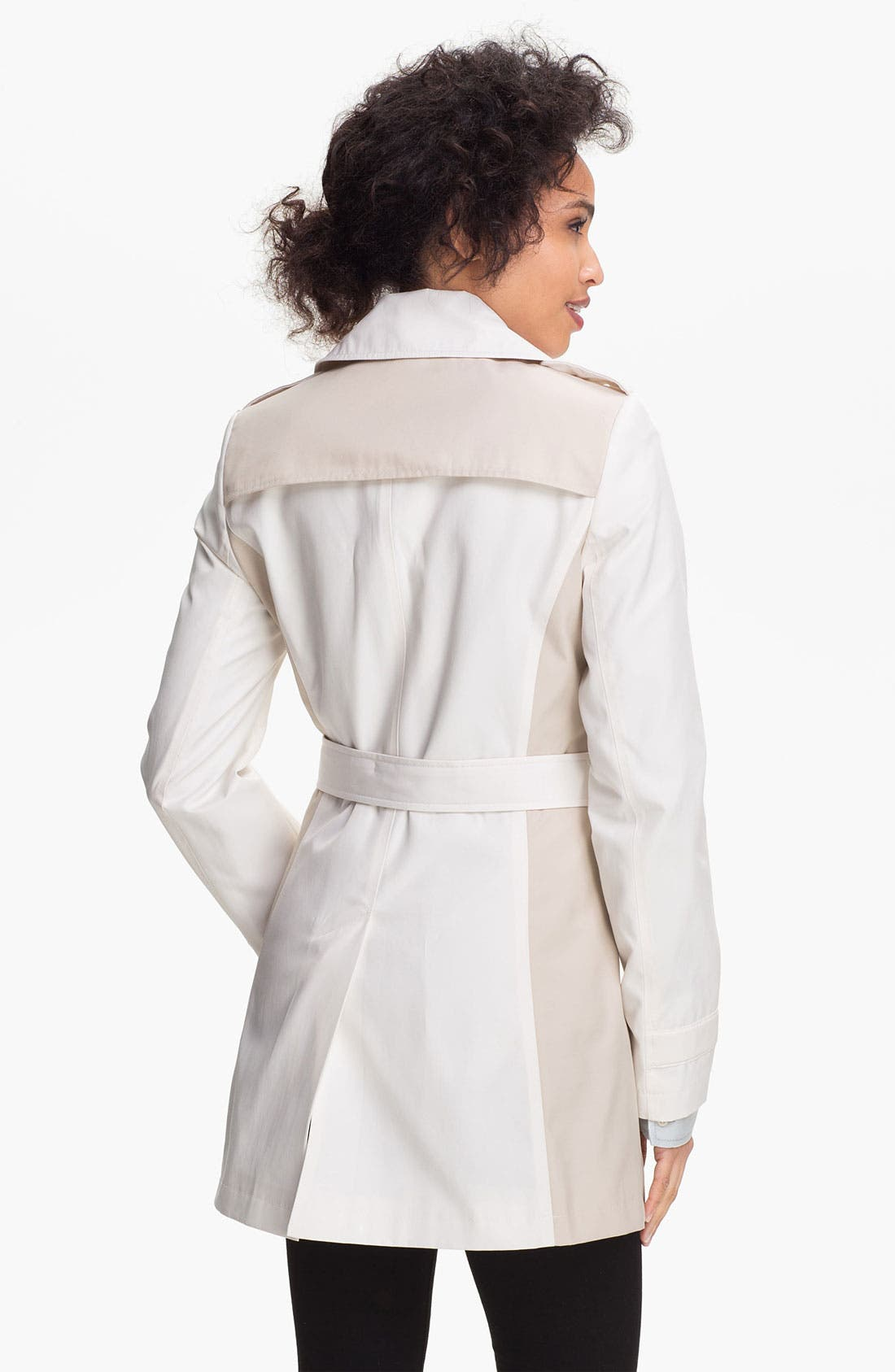 Alternate Image 2  - DKNY Two Tone Trench Coat