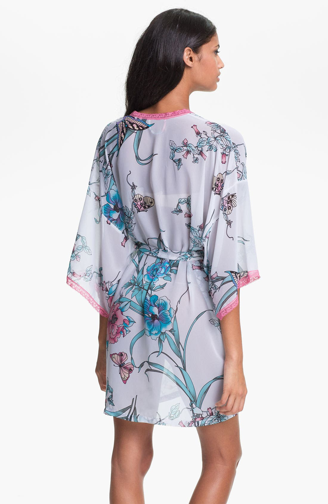 Alternate Image 2  - In Bloom by Jonquil 'Asian Butterfly' Short Robe