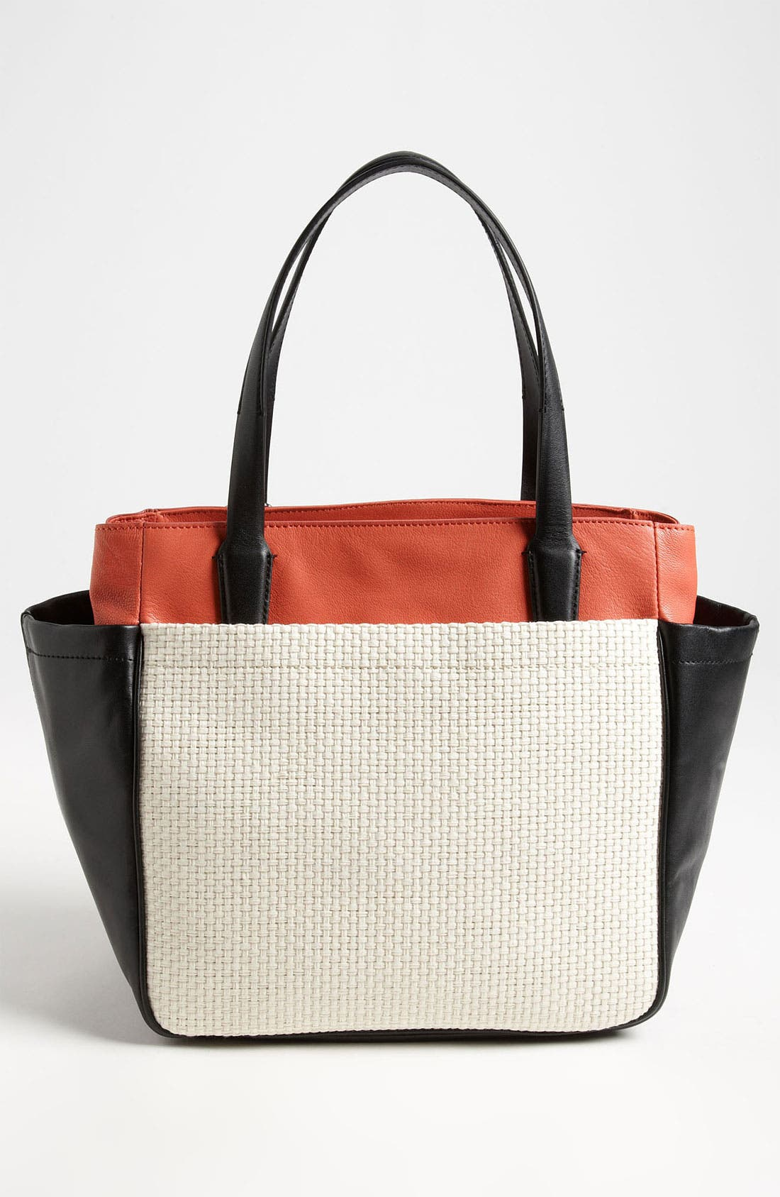 Alternate Image 4  - Diane von Furstenberg 'On the Go' Leather & Straw Tote